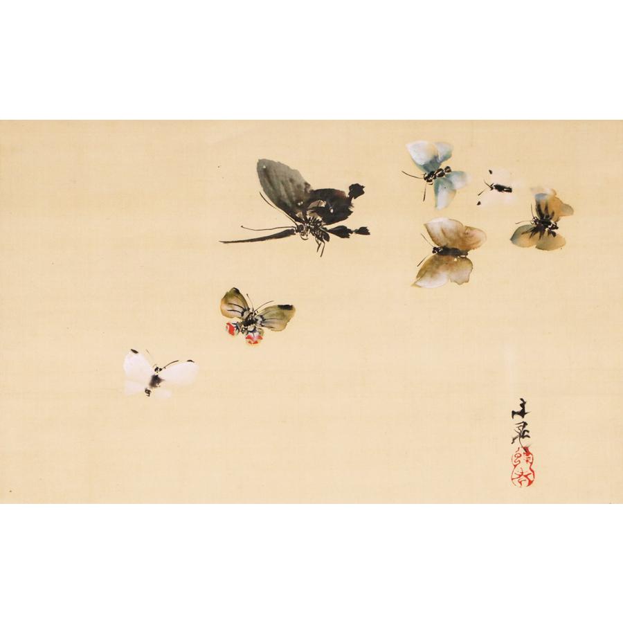 谷文晁 群蝶之図 日本の動物画 いきもののかたち 江戸期の花鳥画などかわいい日本画のサイト